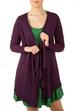 Vigorella Long Sleeve Draped Cardi - Womens Cardigans - Birdsnest Fashion Clothing