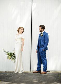 Sophia on her wedding day wearing a Cortana coat dress on her wedding.