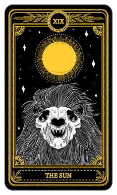 The Sun from the Major Arcana of the Marigold Tarot