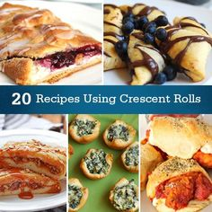 Roll it up! 20 Delicious Recipes Using #Crescent Rolls @Christina Childress Childress Childress Childress S saw this and thought of you!!