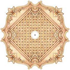 "Essex Square 36"" Wide Repositionable Ceiling Medallion - #Y6575   Lamps Plus"