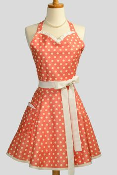 Want this - Womens Sweetheart Hostess Apron  Sexy Retro by CreativeChics, $36.00  OMG  can you imagine this in green?!