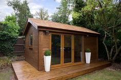 Garden studio ... would probably need Velux windows in the roof-slopes to maximise light.