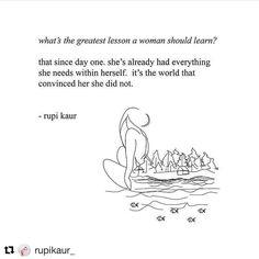 already whole. already enough. #internationalwomensday  from @rupikaur_