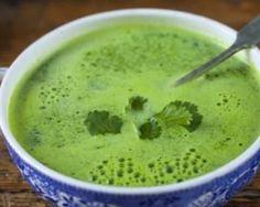 Soupe brûle-graisse d'épinards et pois chiches au cumin Croq'Kilos : http://www.fourchette-et-bikini.fr/recettes/recettes-minceur/soupe-brule-graisse-depinards-et-pois-chiches-au-cumin-croqkilos.html