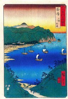Bay at Kominato in Awa Province - Hiroshige