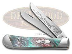 CASE XX Slant Series Coral Sea Corelon Trapper 1/2500 Stainless Pocket Knife - CA9254-S-CS | 9254-S-CS - 026615904502