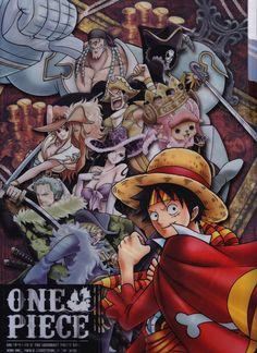 L'équipage au Chapeau de Paille habillé pour le 15e Anniversaire de One Piece