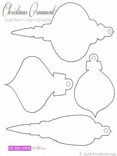 Use colorful scrapbook paper to make ornaments for your tree. Free Printable Christmas-Ornament-Pattern Make them elegant with glitter or use to make Christmas crafts with your kids Easy To Make Christmas Ornaments, Printable Christmas Ornaments, Christmas Stencils, 3d Christmas, Paper Ornaments, Free Christmas Printables, Christmas Templates, Handmade Christmas, Christmas Nativity