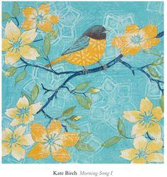 Give any room a delightful display with this ''Morning Song I'' wall art print from Art.com. <ul> <li>Bird design</li> <li>Artist: Kate Birch PRODUCT DETAILS</li> <li>14''H x 13''W x 0.1''D</li> <li>Paper</li> <li>Vertical display</li> <li>no frame included</li> <li>Wipe clean</li> <li>Model no. 6093993</li> </ul>