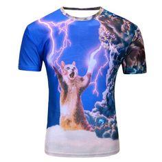 Abstract Animal Chat Cool Funny Tumblr Urban Vegan Fashion Festival T Shirt