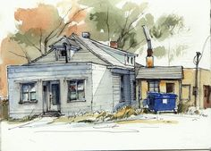 Urban Sketchers Midwest: Back to my Roots    Inspirational journal sketching.