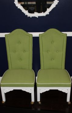 olive hollywood regency chairs