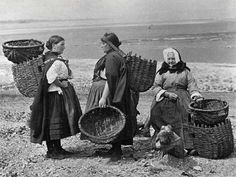 Musselburgh Fishwives  -  A Carbon Print