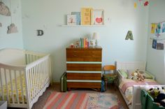hart + sew | Vintage Baby Clothing: nursery tour An example of an individual and simple room for children