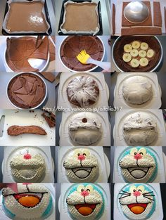 How to make DORAEMON cake