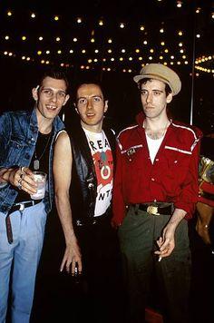Paul Simonon, Joe Strummer and Mick Jones
