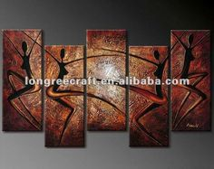 Nude Women Canvas African Art Paintings
