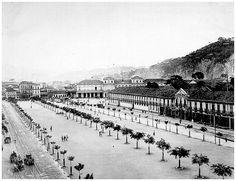 Antiga estação de Trem Pedro II (Central do Brasil). Rio de Janeiro, 1906.