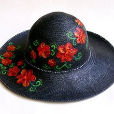 Hand Painted Genuine Panama Hat Sombreros Pintados A Mano cafa9a4ad13