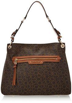 Calvin Klein Monogram Hobo Shoulder Bag, Brown/Khaki/Luggage Saffiano, One Size Calvin Klein http://www.amazon.com/dp/B00NGF6PI2/ref=cm_sw_r_pi_dp_lLOGub0W60CFP