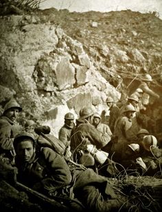 French Colonial Soldiers (Moroccans) at the Battle of Verdun, 1916.