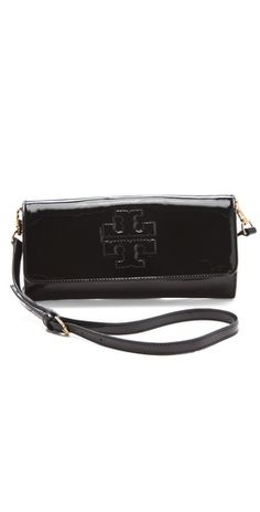 Tory Burch Bombe East West Clutch. Also comes in Hot Pink!