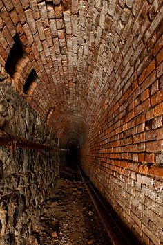 Tunnel under Greystone State Hospital. Rumor has it there was a bowling alley down there as well. These tunnels lead from building to building.
