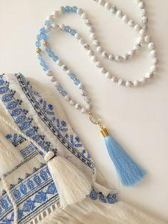 Charm- & Bettelketten - Unikat Edle lange Kette Bettelkette Mala HIPPIE  - ein Designerstück von Frau-von-L bei DaWanda