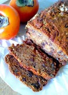 i'm in a persimmon schtick. having tried pudding  last week, i thought i'd try my hand at making a quick bread  this time around. this on...