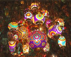 Turkish lamps...truly one of my inspirations...sometimes I love them so much I want to eat them.