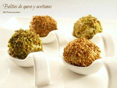 Bolitas de queso y aceitunas - MisThermorecetas Appetizer Recipes, Appetizers, Beignets, Finger Foods, A Food, Catering, Menu, Herbs, Breakfast
