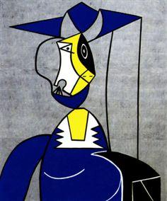 1962 Roy Lichtenstein, Femme au Chapeau, Pop Art. #USA @deFharo