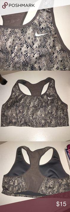 70071ebe524db See More. Nike Dri-fit sports bra- gray pattern🌪 small Small