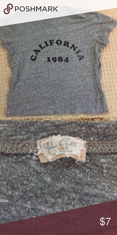 Brandy Melville shirt sleeve gray tee Brandy tee Brandy Melville Tops Tees - Short Sleeve