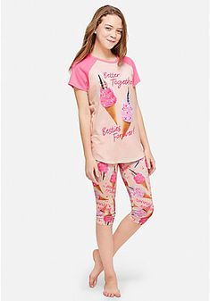 72640e98bb75 Justice is your one-stop shop for girls  pajamas   sleep sets. Find  everything from matching pajama sets for head-to-toe comfort