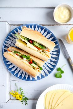nice Banh Mi sandwich with leerdammer and a raffle - cheese stalls with a difference # cheese loaves (contains advertising) My Favorite Food, Favorite Recipes, Banh Mi Sandwich, Delicious Sandwiches, Exotic Food, Vegetarian Cheese, Cheese Recipes, Hot Dog Buns, Summer Recipes