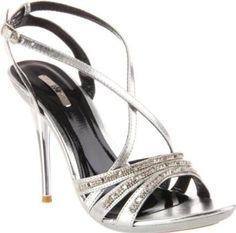 £34.00  Shoehorne Ocean-10 - Womens Silver Strappy High Heeled Evening Bridal Party Sandals Sparkling Rhinestone/Diamante Straps - Avail in Ladies Shoe Size 3-8 UK: Amazon.co.uk: Shoes & Accessories