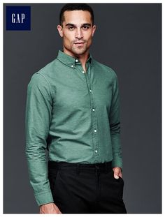 Heathered oxford shirt (slim fit)