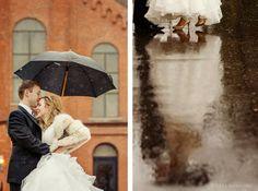 Rain on your Wedding Day - creates amazing photo opportunities! Bobbi & Mike Photography