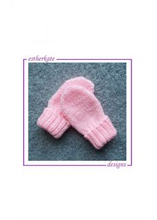 Ravelry: Preemie Pink Mittens pattern by Esther Kate Baby Mittens Knitting Pattern, Crochet Baby Mittens, Baby Hats Knitting, Crochet Baby Clothes, Knitting Patterns Free, Free Pattern, Pink Mittens, Baby Christening Gowns, Ravelry
