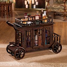 Tend bar in elegant style with the Design Toscano Cranbrook Manor Cordial Carriage . Patterned after the regal carriages once used to transport European. Selling Furniture, Home Decor Furniture, Furniture Design, Cabinet Furniture, European Furniture, Storage Design, Bars For Home, Decoration, Liquor Cabinet