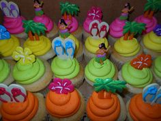 Luau Cupcakes | Luau cupcakes | Flickr - Photo Sharing!