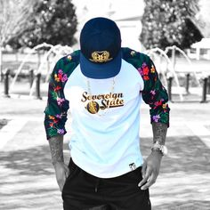 Quality is everything!  Close & personal  Product  Tropical Baseball Tee @sovereignstateapparel  @sovereignstateapparel  Www.sovereignstateapparel.com  #blckfashion