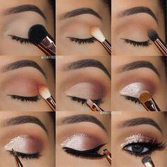 7 simple makeup tips to make your eyes burst .- 7 einfache Make-up-Tipps, um Ihre Augen zum Platzen zu bringen – Style O Check 7 Simple Makeup Tips to Make Your Eyes Burst – Style O Check …, - Makeup Eye Looks, Eye Makeup Steps, Pretty Makeup, Skin Makeup, Makeup Eyeshadow, Prom Eye Makeup, Silver Eye Makeup, Perfect Makeup, Eyeshadows