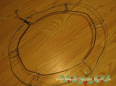 upcycle wire hangers and any floss, wire, thread...