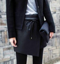 #Asymmetrical Mini Skirt