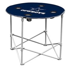 DALLAS COWBOYS Logo Brand Portable Round Tailgate Table - Officially Licensed #Logo #DallasCowboys #JoSam1129 #DALLASCOWBOYS #LogoBrandPortableTable #RoundTailgateTable #Cowboys #CowboysTable #LogoBrand