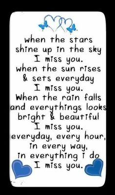 Everyday I miss you