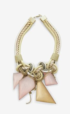 Alexis Bittar Gold, Pink And Multicolor Necklace | VAUNTE